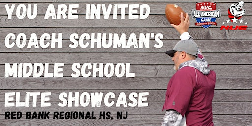 Coach Schuman's Middle School Football Rise Up Skills Showcase & Lineman Camp 2024/2025/2026 Grad Class Only