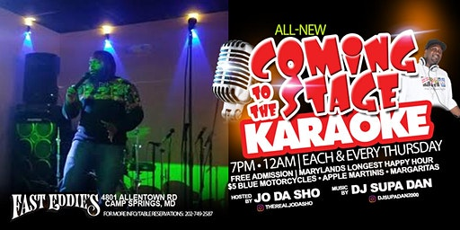 Karaoke - Coming to the stage Thursdays