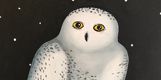 Kids & Grown-Ups Snow Hooty Paint Party at Brush &