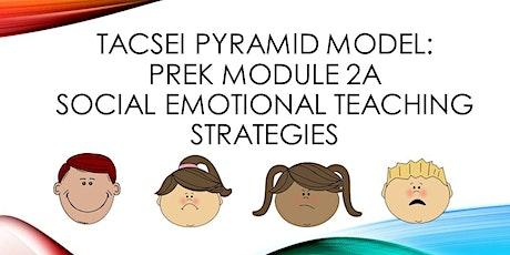 CANCELLED TACSEI Pyramid Model: PreK Module 2a- Social Emotional Teaching Strategies  tickets