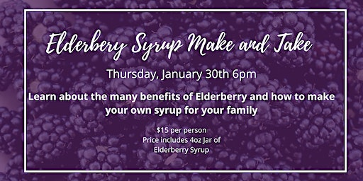 Elderberry Syrup Make and Take