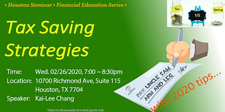 Tax Saving Strategies with 2020 tips (Learn & Network) tickets