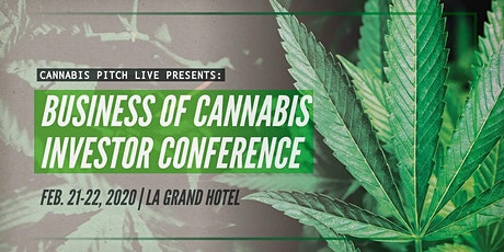 Cannabis Pitch Live  Professional Athletes and Investors Conference tickets