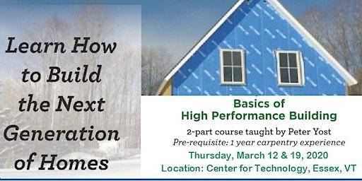 Basics of High Performance Building