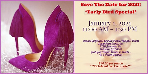 SAVE THE DATE - Annual Girlfriends Brunch 2021: Purple, Pumps, & Pearls