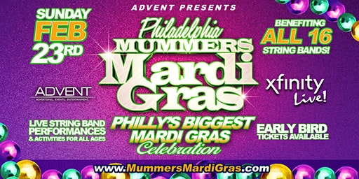 Mummers Mardi Gras at Xfinity Live! 11am-8pm