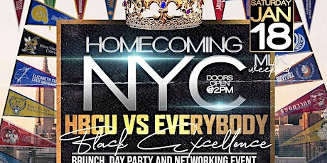 """Homecoming NYC"""" HBCU VS Everybody Brunch and Day Party tickets"""