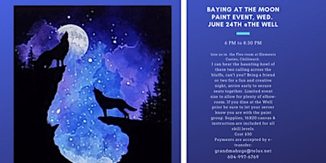 Baying Wolves Paint Event at the Well tickets