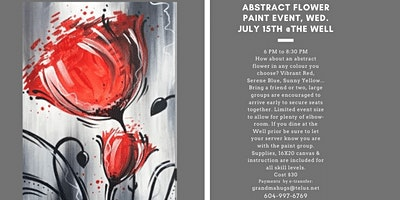 Abstract Flower Paint Event at the Well