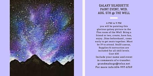 Galaxy Silhouette Paint Event at the Well