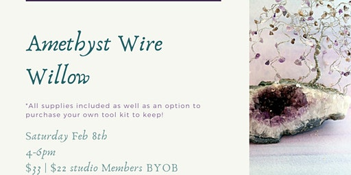 Lets Get Twisted! Amethyst Wire Willow