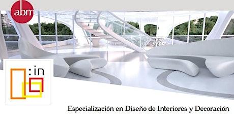 Charla Informativa -Especialización en Diseño Interior & Decoración entradas