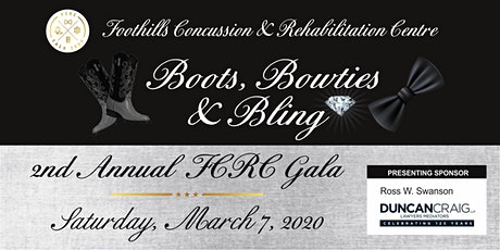 Foothills Concussion & Rehabilitation Centre Boots, Bowties & Bling Gala tickets