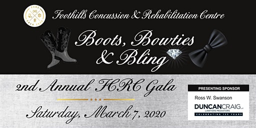 Foothills Concussion & Rehabilitation Centre Boots, Bowties & Bling Gala