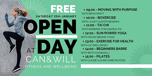 CAN&WILL Fitness and Wellbeing FREE OPEN DAY!