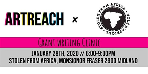 ArtReach Grant Writing Clinic at Stolen From Africa