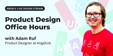 Live UX/UI Design with Product Designer + Mentor, Adam Ruf tickets