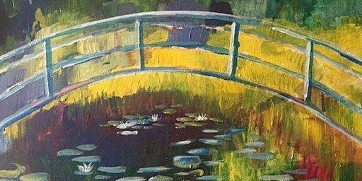 Sip and Paint in Townsville : Monet's Footbridge.