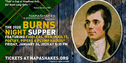 NapaShakes Burns Night Supper 2020