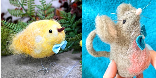 Needlefelt Chick & Mouse - Just Footprints Chester