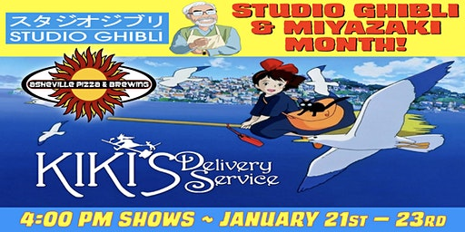 KIKI'S DELIVERY SERVICE -- 4:00 pm Shows / Jan. 21-23 / SELECT A DATE -- Studio Ghibli & Miyazaki Month!