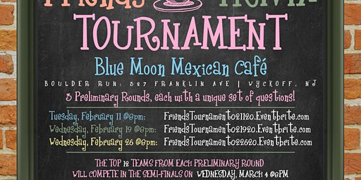Friends Trivia Tournament: Preliminary Round 1