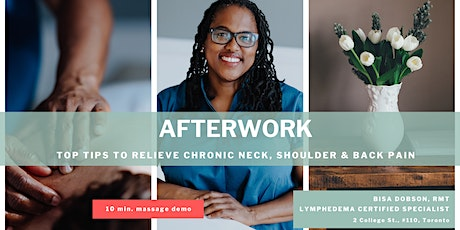 Top tips to Relieve Chronic Neck, Shoulder & Back pain tickets