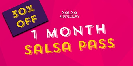1 Month of Salsa Classes for just £20 tickets