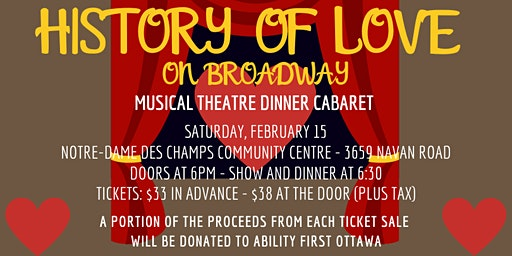 History of Love: On Broadway - Musical Theatre Dinner Cabaret (SOLD OUT)
