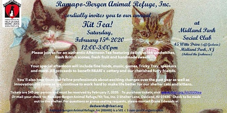 Ramapo-Bergen Animal Refuge Annual Kit Tea for Cat Lovers tickets