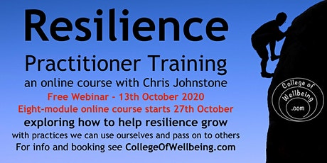 Free Webinar on Resilience Practitioner Training tickets