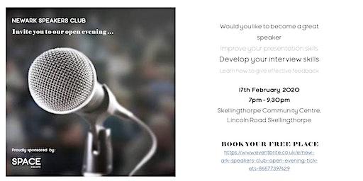 Newark Speakers Club open evening