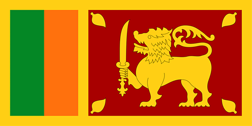 Raising the Sri Lankan National Flag