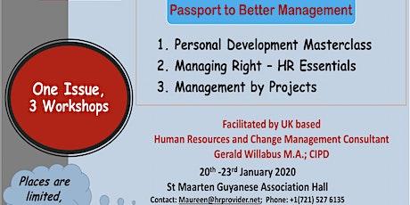 Passport to Better Management (Single Workshop) tickets