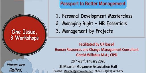 Passport to Better Management (Single Workshop)