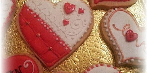 Basic Art of Cookie Decorating ~ Valentine's Day edition 1 dozen