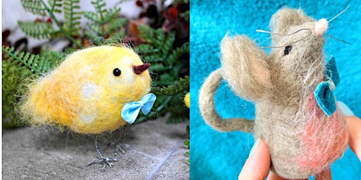 Needlefelt Chick & Mouse - Allerton Liverpool
