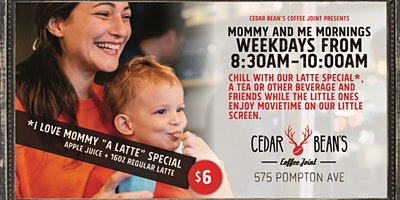 Mommy & Me Mornings   8:30am-10am