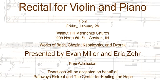 Recital for Violin and Piano