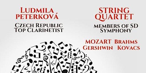 Clarinet Quintet with Ludmila Peterkova, Czech Republic & String Quartet