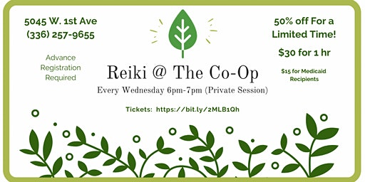 Private Reiki Session @ The Co-Op
