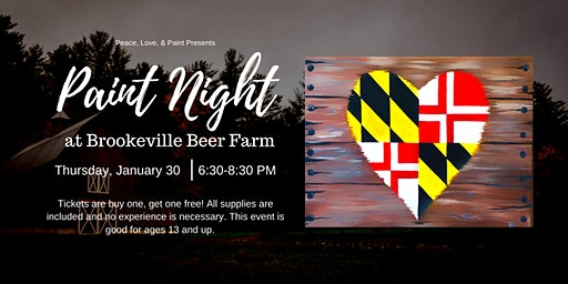 Paint Night at Brookeville Beer Farm- Buy One, Get One Free!
