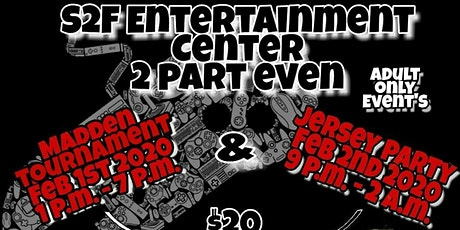S2F Entertainment Center two part Superbowl weeken tickets