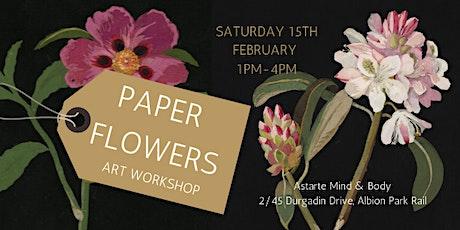 Paper Flowers Art Workshop tickets