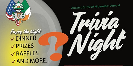 2020 Trivia Night with the Ancient Order of Hibernians tickets