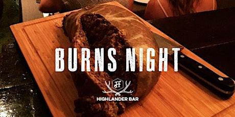 Burns Night at Highlander 2020 (Saturday) tickets