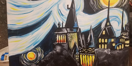 Paint & Sip: Starry Night at Hogwarts