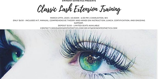 Classic Eyelash Extension Training and Certification