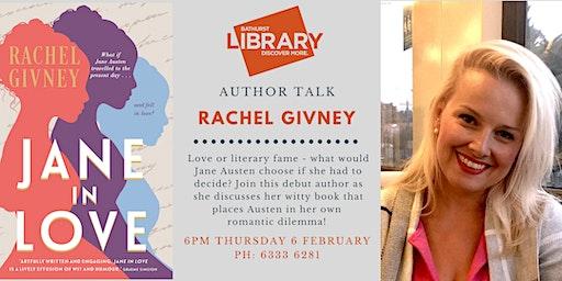 Author talk: Rachel Givney