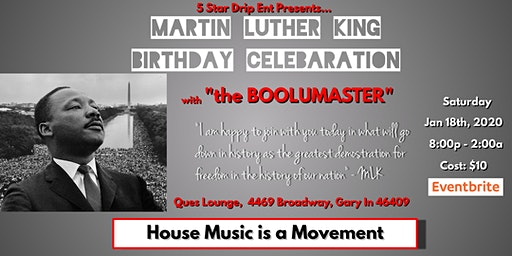 "Martin Luther King Birthday Celebration with ""The Boolumaster"""